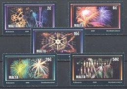 Malta - 2000 Fireworks MNH__(TH-17950) - Malta