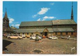 HONFLEUR--Eglise Sainte Catherine (voitures Dont Peugeot Et Mercedès)et Place Marché Cpsm 15 X 10 N° 10 14 0065 éd Yvon - Honfleur