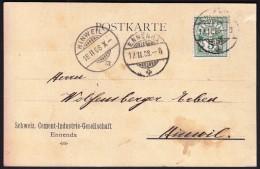 Switzerland Ennenda 17. 2. 1908 / Schweiz. Cement Industrie Gesellschaft / Sent To Hinweil - Usines & Industries