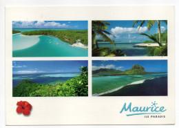 Ile MAURICE--ile Paradis--4 Vues Cpm éd Agedis --timbres Au Verso - Maurice