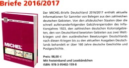 MICHEL Deutschland Briefe Katalog 2016/2017 Neu 98€ Handbook With Special Cover + FDC Cards Letters Catalogue Of Germany - Pin's & Anstecknadeln