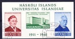 ISLANDE BLOC ET FEUILLET 1961 YT N° BF 3 Obl. - Blocs-feuillets