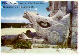 Image, MEXIQUE, MEXICO : Tête De Serpent à Chichen-Itza - Geographie