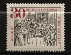 Allemagne Fédérale 1970 N° 533 ** Diète De Worms, Martin Luther, Charles Quint Saint-Empire Romain Germanique Protestant - Ungebraucht