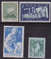 Monaco N° 274-293-294-301 Neufs ** - Voir Verso - - Monaco