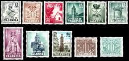 Plan Sur De Valencia 01/11 ** Serie Completa - 1961-70 Neufs