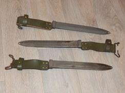 D´origine Française/Fourreau De Baïonnette/MAS 49-56/Cuir Kakie/Fabrication StEtienne/De Stock/A Voir! - Knives/Swords