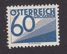 Austria, Scott #J154, Mint Hinged, Postage Due, Issued 1925 - Impuestos