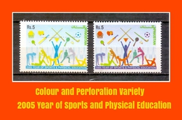 2005 Pakistan Colour Variety Sports Physical Education Cricket Football Hockey Table Tennis Badminton Basketball(PK-100)