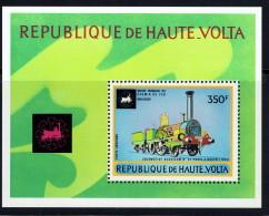1973  Locomotive Buddicomb  Paris -Rouen 1884  Bloc Feuillet ** - Upper Volta (1958-1984)