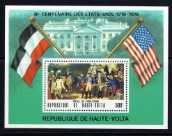 1975 Bicentenaire Des USA   Prise De Yorktown -Bloc Feuillet ** - Haute-Volta (1958-1984)