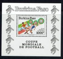 1990  Coupe Du Monde De Football  Italia'90  - Bloc Feuillet ** - Burkina Faso (1984-...)
