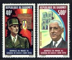 DAHOMEY  1971  Général De Gaulle  ** - Benin – Dahomey (1960-...)