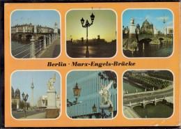 Berlin - Mehrbildkarte 350   Marx Engels Brücke - Allemagne