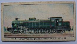 TICKET - APPAREIL DE PESEE - TRAIN - N°4 LOCOMOTIVE 242 D.T. REGION S.E. 1931/33 - Chromos