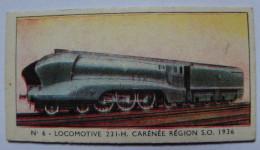 TICKET - APPAREIL DE PESEE - TRAIN - N°6 LOCOMOTIVE 231 H CARENEE REGION S.O. 1936 - Chromos