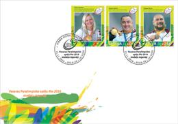 Latvia Lettland Lettonia  2016 Para Olympic Games Champions From Lettland Rio-2016 Fdc - Eté 2016: Rio De Janeiro