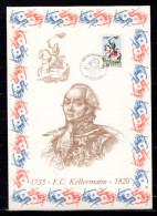 """FRANCE 1989 : Encart 1er Jour N°té / Soie Rare (963/1750) Edit° A.M.I.S. : """" F.C. KELLERMANN """". N° YT 2595. Parf état"""