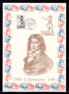 """FRANCE 1989 : Encart 1er Jour N°té / Soie Rare (977/1750) Edit° A.M.I.S. : """" C. DESMOLINS """". N° YT 2594. Parf état"""