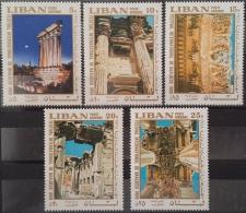 R1 - Lebanon 1968 Mi. 1062-1066 MNH - International Festival Baalbeck - Lebanon