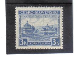 BAU1324 KARPATEN - UKRAINE 1939  MICHL  1  ** Postfrisch  Siehe ABBILDUNG - Ukraine