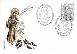 Italia 6.1.82 Assisi Centro FDC VIII CENTENARIO NASCITA S. FRANCESCO - Christianisme