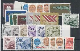 LETTLAND Mi.Nr.  Marken Aus Jahrgang 1991-1992  - MNH - Latvia