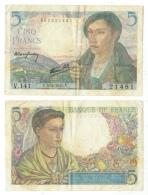 Billet De 5FF 1945 - 5 F 1943-1947 ''Berger''