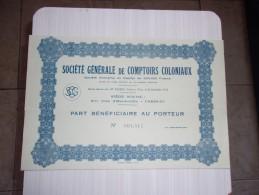 GENERALE DE COMPTOIRS COLONIAUX (1932) - Hist. Wertpapiere - Nonvaleurs