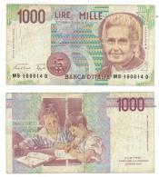 Billet De 1000 Lire - [ 2] 1946-… : République