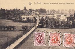 Sombreffe. Panorama. Vue Prise De La Tour Du Château Féodal.  Très Belle Carte - Sombreffe
