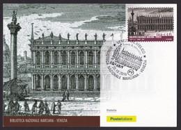 ITALIA Repubblica Cartolina Filatelica Biblioteca Marciana Venezia Anno 2016 - Maximum Cards