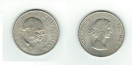 Pièce Commémorative En Cupro-nickel  Elizabeth II-Churchil 1965 - Grande-Bretagne