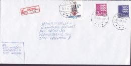 Denmark Registered Einschreiben Label Brotype IId GLESBORG 1995 Cover Brief Søfartsstyrelsen KØBENHAVN - Dänemark