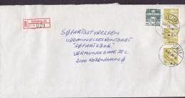 Denmark Registered Einschreiben Label ESBJERG (34.) 1995 Cover Brief Søfartsstyrelsen KØBENHAVN 3-Stripe !! - Dänemark