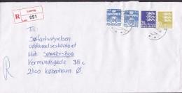 Denmark Registered Einschreiben Label LEMVIG 1995 Cover Brief Søfartsstyrelsen KØBENHAVN - Dänemark