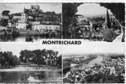 41 - MONTRICHARD - VUE SUR L' EGLISE ET LE DONJON-PLAGE -VUE GENERALE - 1957 - Montrichard