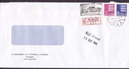 Denmark JUNGGREEN, PETERSEN & PLESNER (Dentists) Registered Einschreiben Label JUELSMINDE 1994 Cover Brief - Dänemark