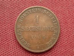 ALLEMAGNE Monnaie De 1 Sechsling 1850 HOLSTEIN - Sin Clasificación