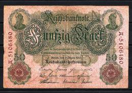 Allemagne - Germany 21-04-1910 Billet 50 Mark Pick 41 Fine (2) - [ 2] 1871-1918 : German Empire