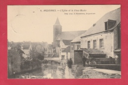 Arquennes - L'Eglise Et Le Vieux Moulin - 1906 ( Voir Verso ) - Seneffe