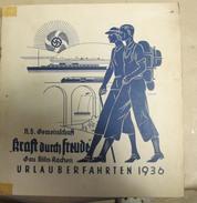 2016.11 NSDAP Kraft Durch Freude Gau Köln-Aachen Überlauberfahrten 1936 - German