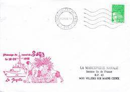 FREGATE LA FAYETTE  PASSAGE DU CANAL DE SUEZ  28/9/1998   BPM 610 - Marcophilie (Lettres)