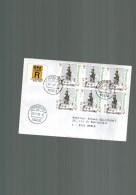 Luxembourg Lettre Recommandée Avec Timbre De Noel De 1999 Oblitérée 1er Jour Avec Cachet Postal Luxembourg 2 - Luxembourg