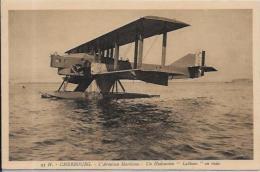 CPSM Avion Aviation Hydravion Seaplane Non Circulé CHERBOURG Latham - Flugwesen