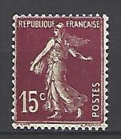 France 1924-1926 Semeuse N° 189 Neuf ** 1er Choix Luxe - France