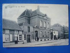 CAPELLE-au-BOIS : Het Gemeentehuis En De Zaal ALCAZAR En 1913 - Kapelle-op-den-Bos