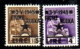 T1381 - FIUME YUGOSLAVIA 1945 ,  Sassone N. 15  E 16 Nuovo *