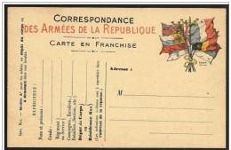 Francia/France: Franchigia Militare, Military Franchise, Franchise Militaire. Bandiere, Flags, Drapeaux - Buste