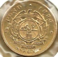 SOUTH AFRICA 1/2 POND SHIELD FRONT MAN BOER HEAD BACK 1896 KM? AU GOLD VF/EF READ DESCRIPTION CAREFULLY !!! - Afrique Du Sud